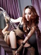 长腿美女大玩性感豹纹装