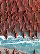 高清:地球沙漠景色卫星照