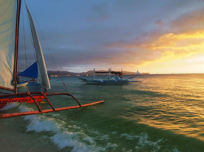 游菲律宾长滩岛 唯美梦幻的暮色
