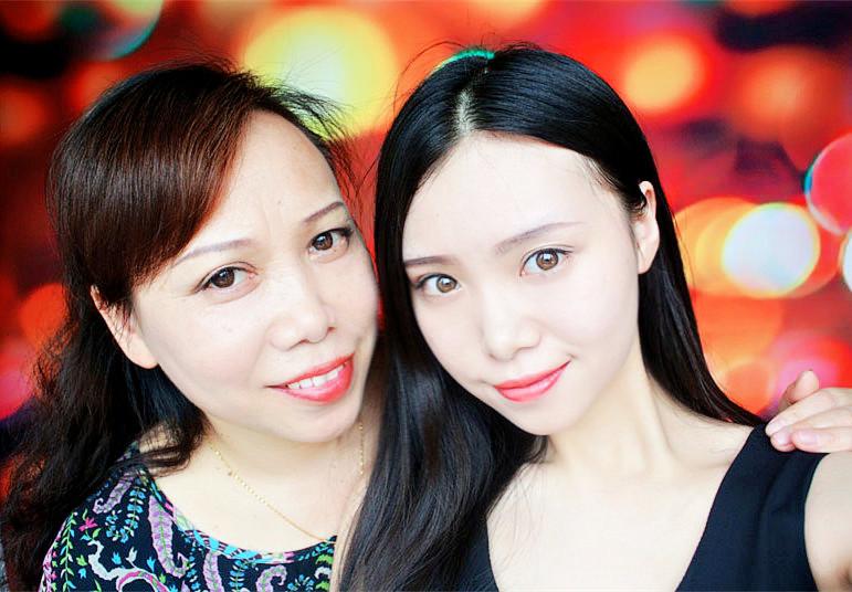 【毛豆】母女似姐妹,一起出门赚足回头率