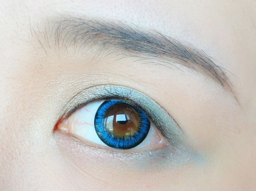 【毛豆】蓝色倾情优雅妆