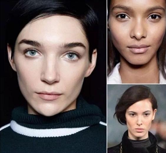 纽约时装周妆容新趋势get, 若有似无的花样美肌