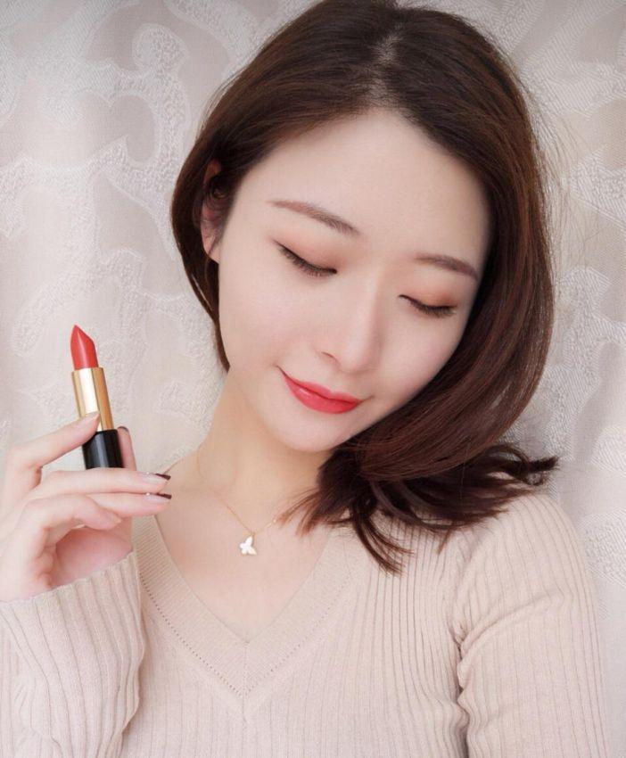 唇膏排行榜中必败的兰蔻菁纯170#珊瑚色口红